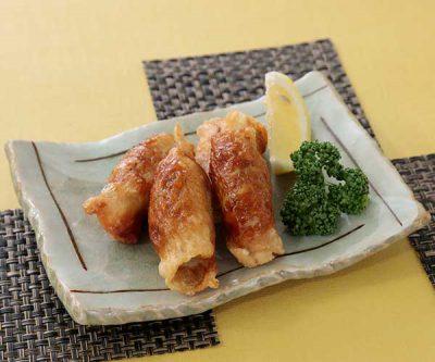 鶏かわ餃子